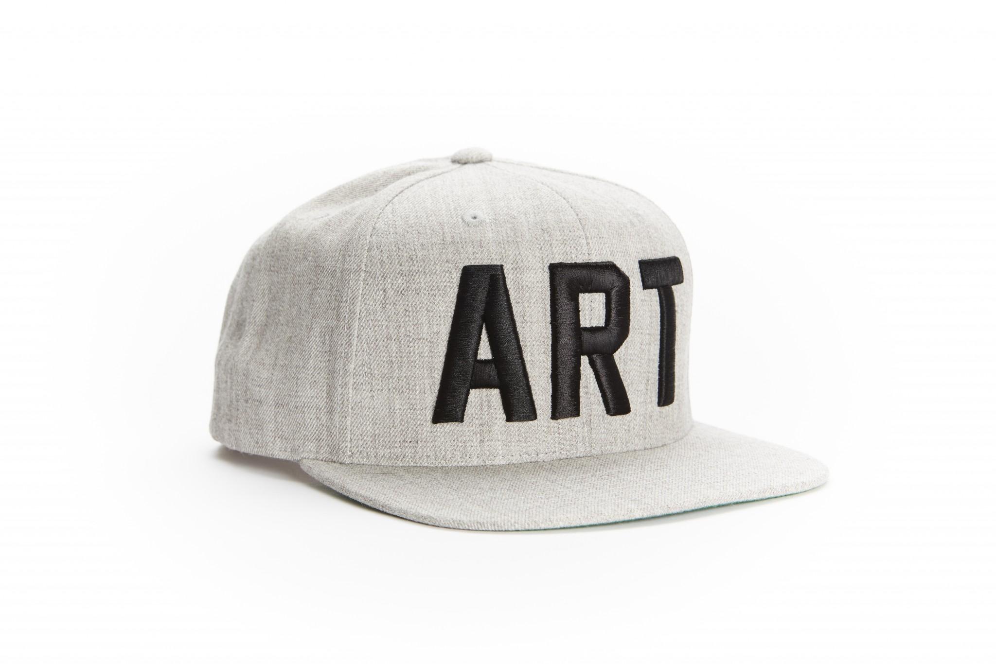 "ba8a2f1bcae41 Snapback Hat – Grey Black.  30.00. Branded Arts "" ..."