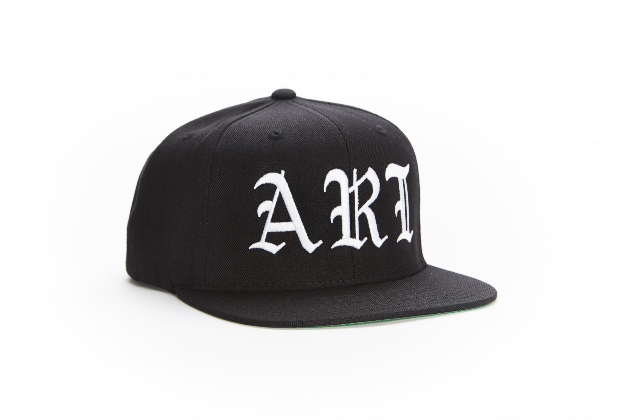 "eba2cd295c215 Snapback Hat – Black White Old English.  30.00. Branded Arts "" ..."