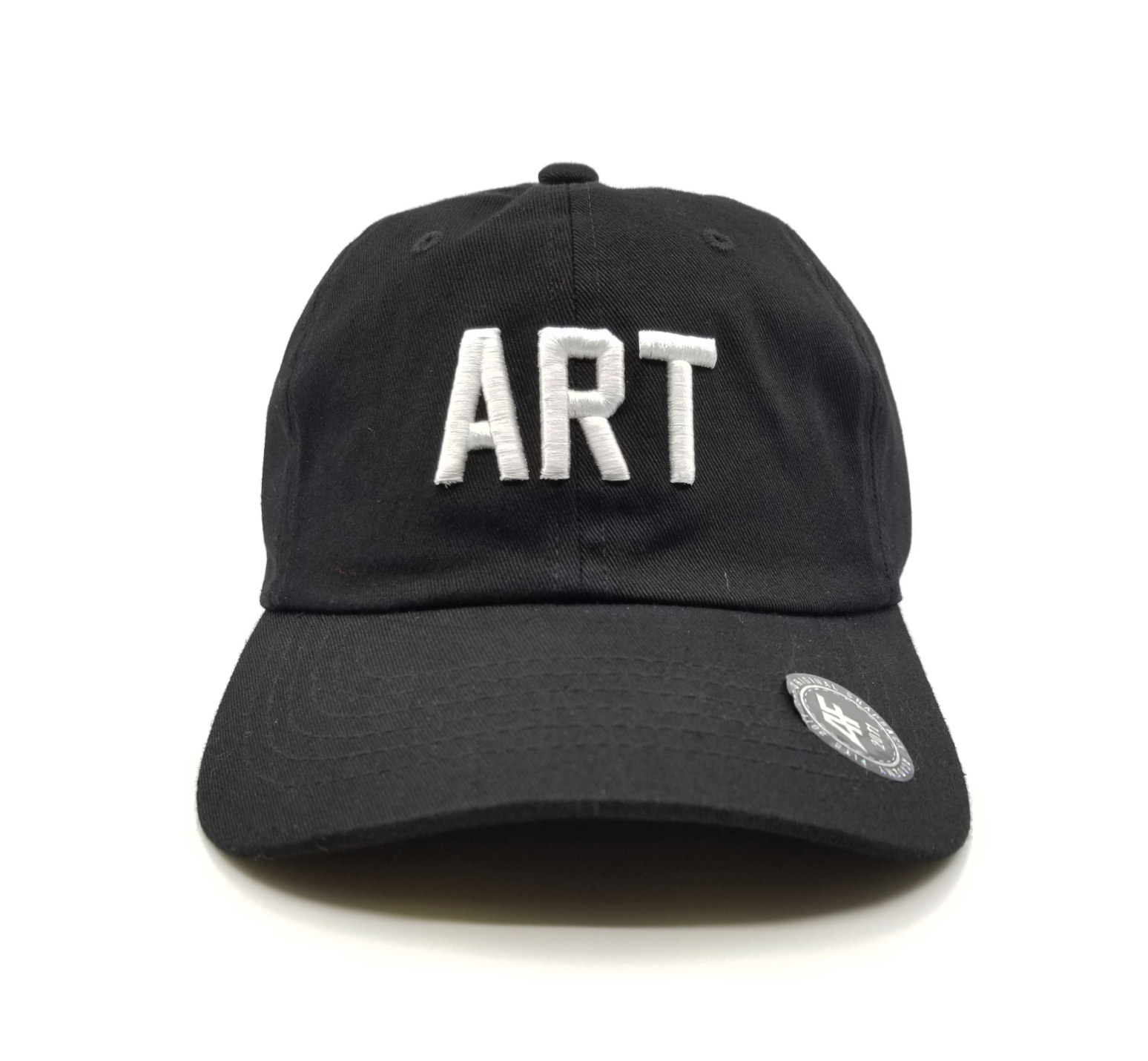 1abfacc05ef10 Dad Hat - Black White - Branded Arts